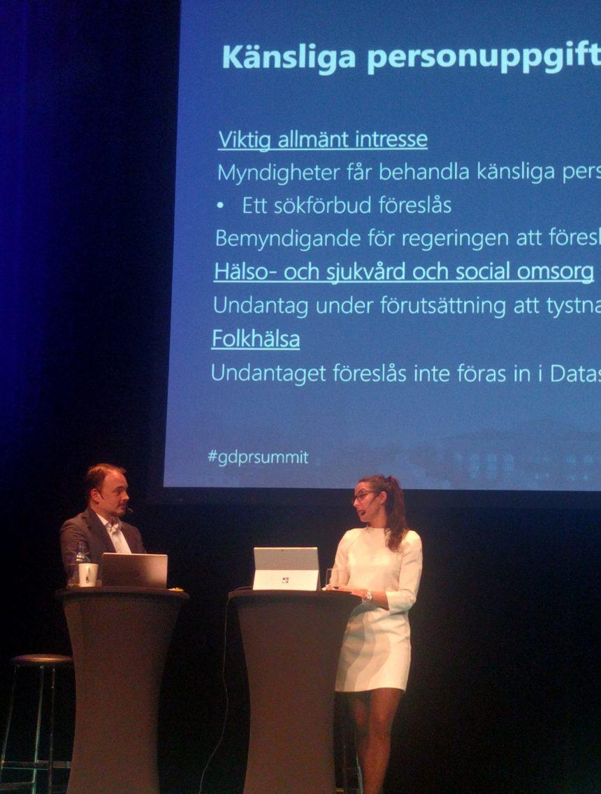 """GDPR Summit 2017 """"Data är den nya oljan"""""""