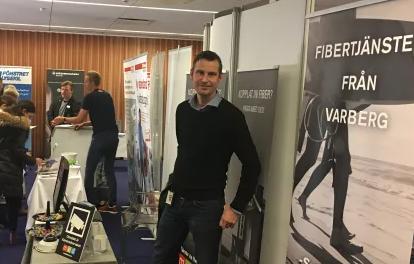 Surf från Varberg på fastighetsmässa i Borås.