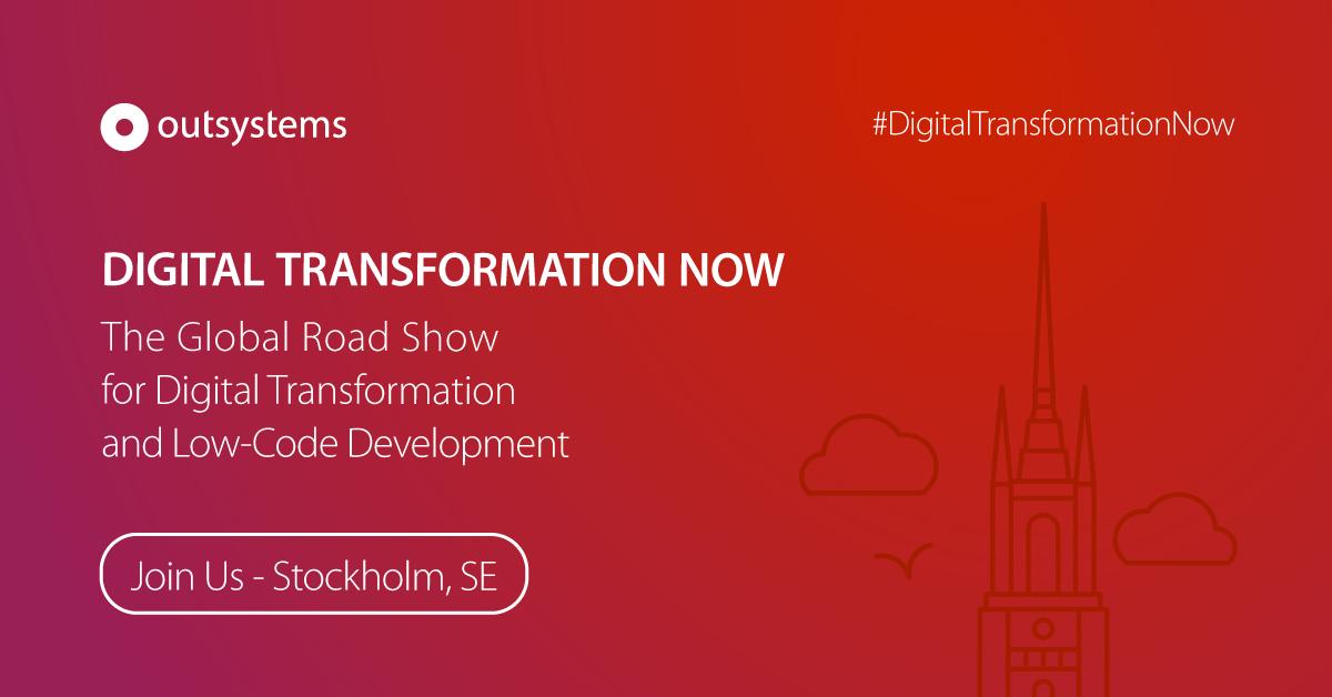 """OutSystems lanserar """"Digital Transformation Now"""" från Boston till Bangkok via Stockholm"""