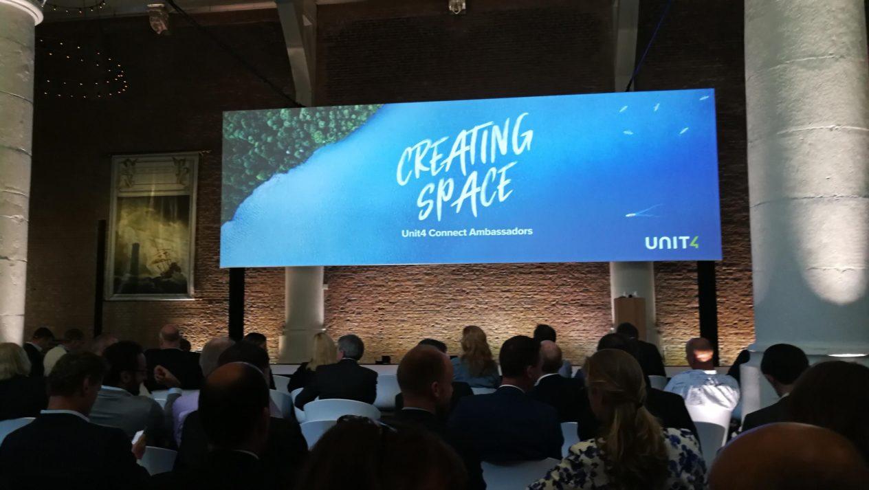 """Unit4 arrangerade informativ konferens """"Creating Space""""- om affärssystem i Amsterdam"""