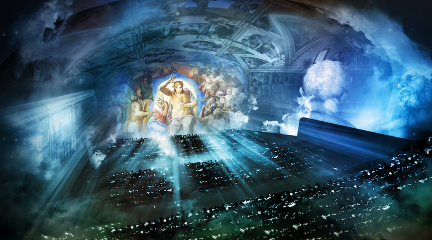 Panasonic målar Michelangelo med ljus