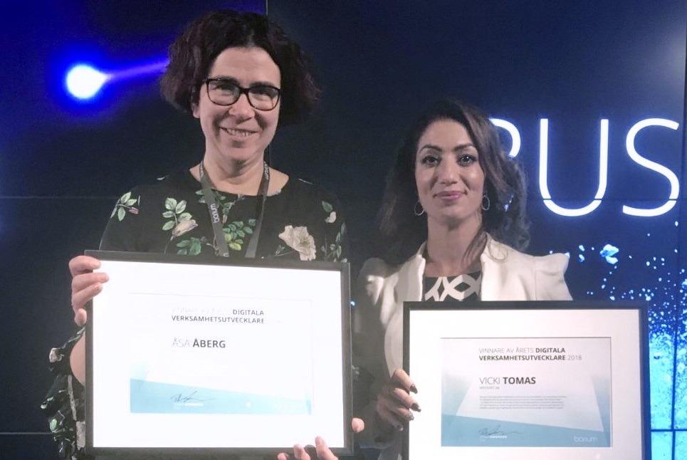 Årets digitala verksamhetsutvecklare 2018 – Åsa Åberg och Vicki Tomas från Apoteket!