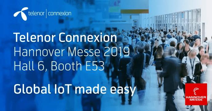 """Telenor Connexion visar """"IoT made easy"""" för tillverkare på Hannover Messe 2019"""