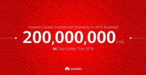 Huawei har sålt 200 miljoner mobiltelefoner på rekordtid 3