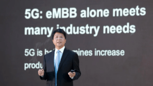 Huaweis roterande ordförande Guo Ping vid GSMA Thrive - Möjligheterna med 5G i en värld efter pandemin 2