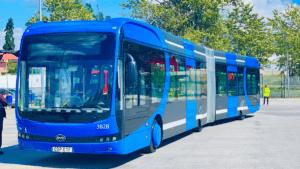 Invigning av Sveriges första elektriska BRT-linje 3