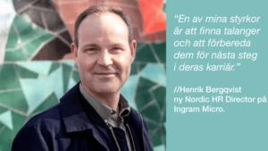 Henrik tar plats i Ingram Micros nordiska HR-team 2