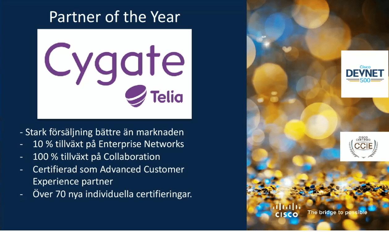 Cygate är Cisco Partner of the Year!