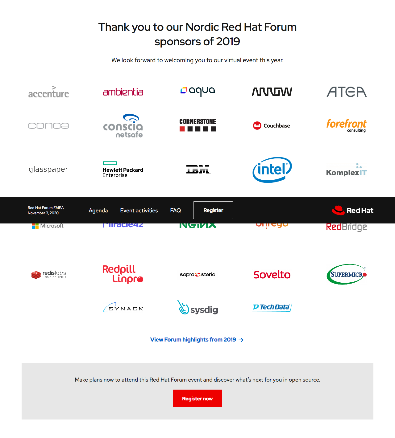 You are invited! Red Hat Forum VIrtual Experience 3 Nov 2020. 17