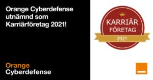 Orange Cyberdefense är för tredje året i rad utvald som ett Karriärföretag 2