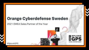 Orange Cyberdefense utnämnd som 2021 Sales Partner of the Year av Splunk