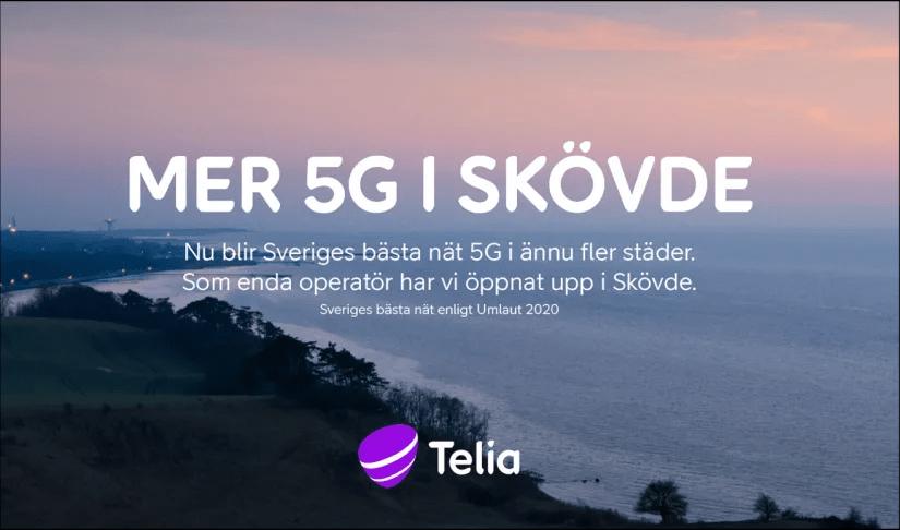 Telia lanserar Skövdes första 5G-nät