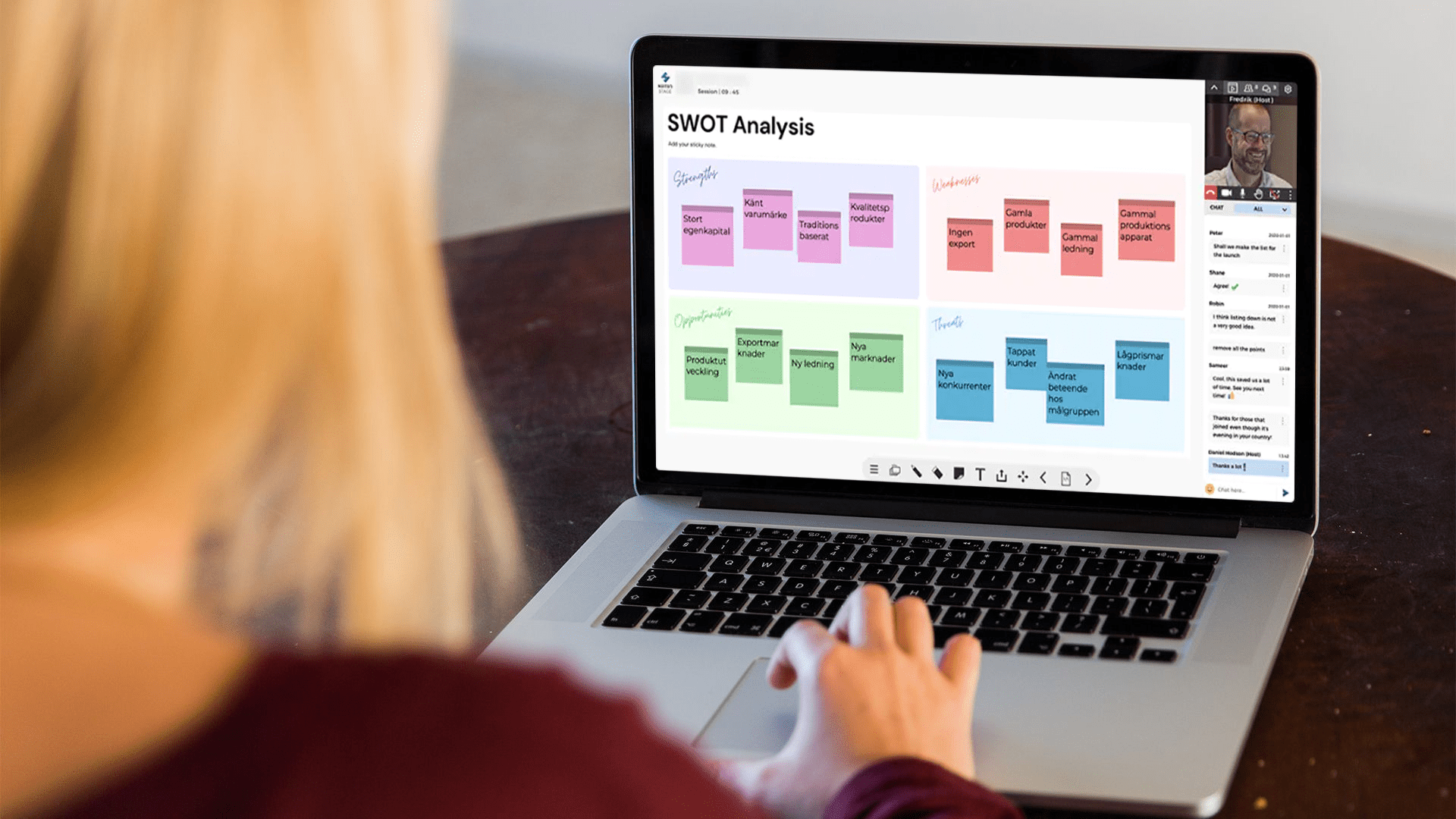 Delta i säkra digitala möten med NUITEQ Stage