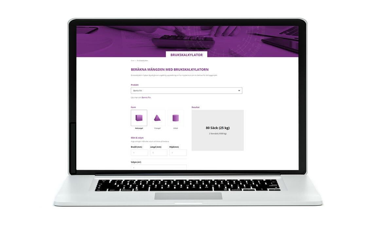 Enkelt att mängdberäkna bruk med Bemix nya digitala brukskalkylator