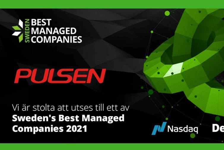 Pulsen Group utsedda till Sweden's Best Managed Company