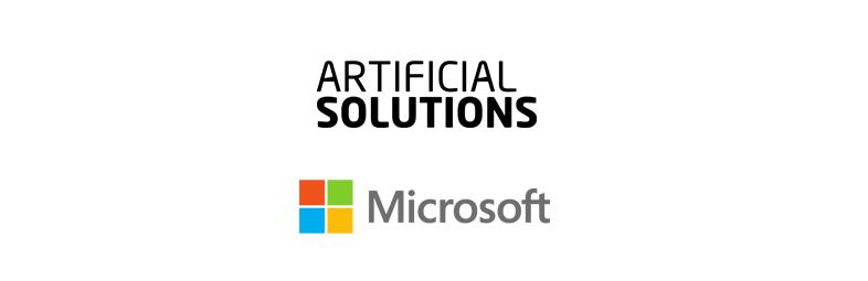 Artificial Solutions tillkännager IP-partnerskap med Microsoft för gemensam försäljning