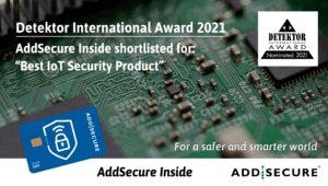 """AddSecure har nominerats till """"Best IoT Security Product"""" 2021"""
