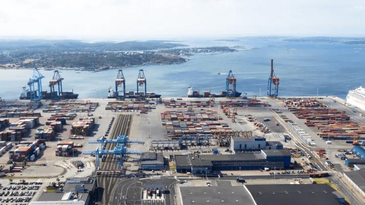 Digital containerspårning från Göteborgs hamn till Sverige