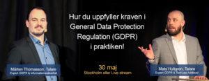Bara 1 år kvar att förbereda inför nya dataskyddsförordningen, GDPR! 2