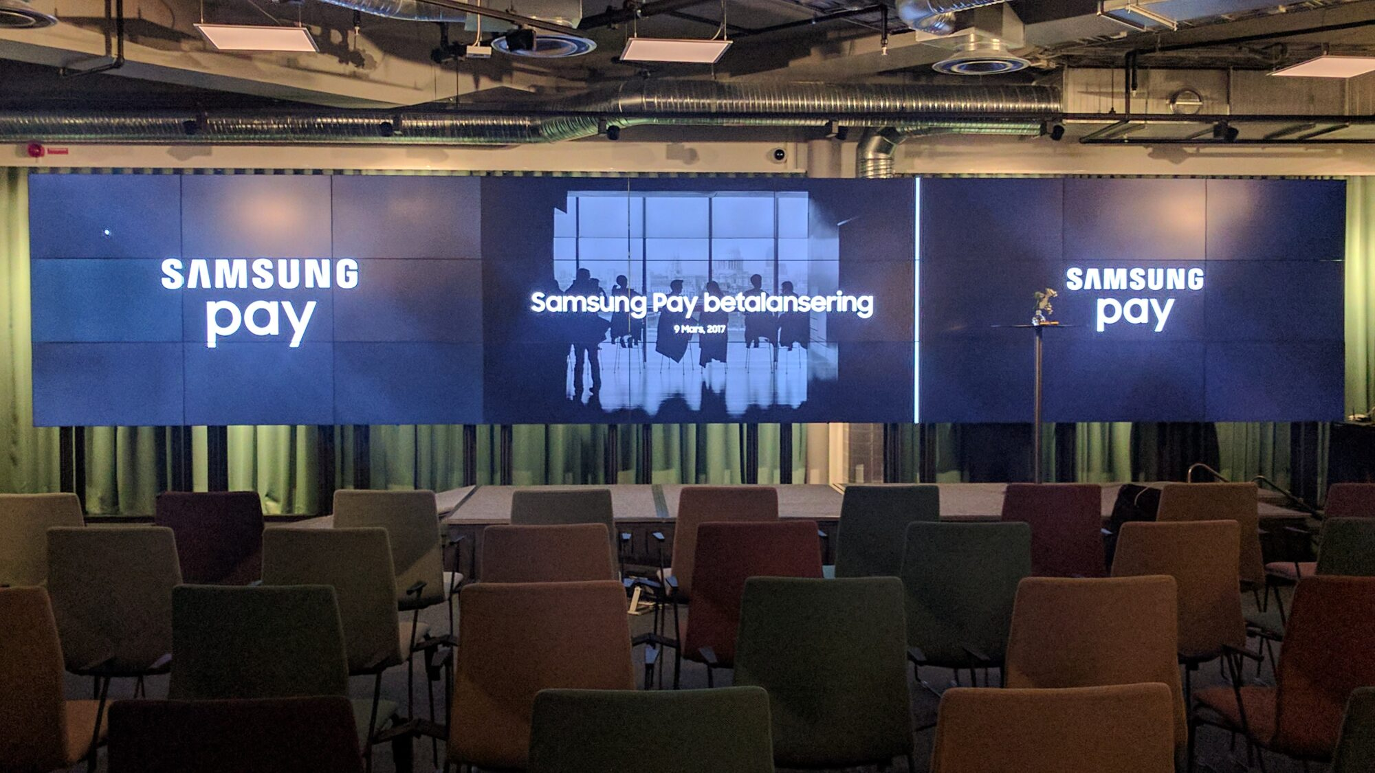 Lanseringen idag av Samsung Pay i Sverige