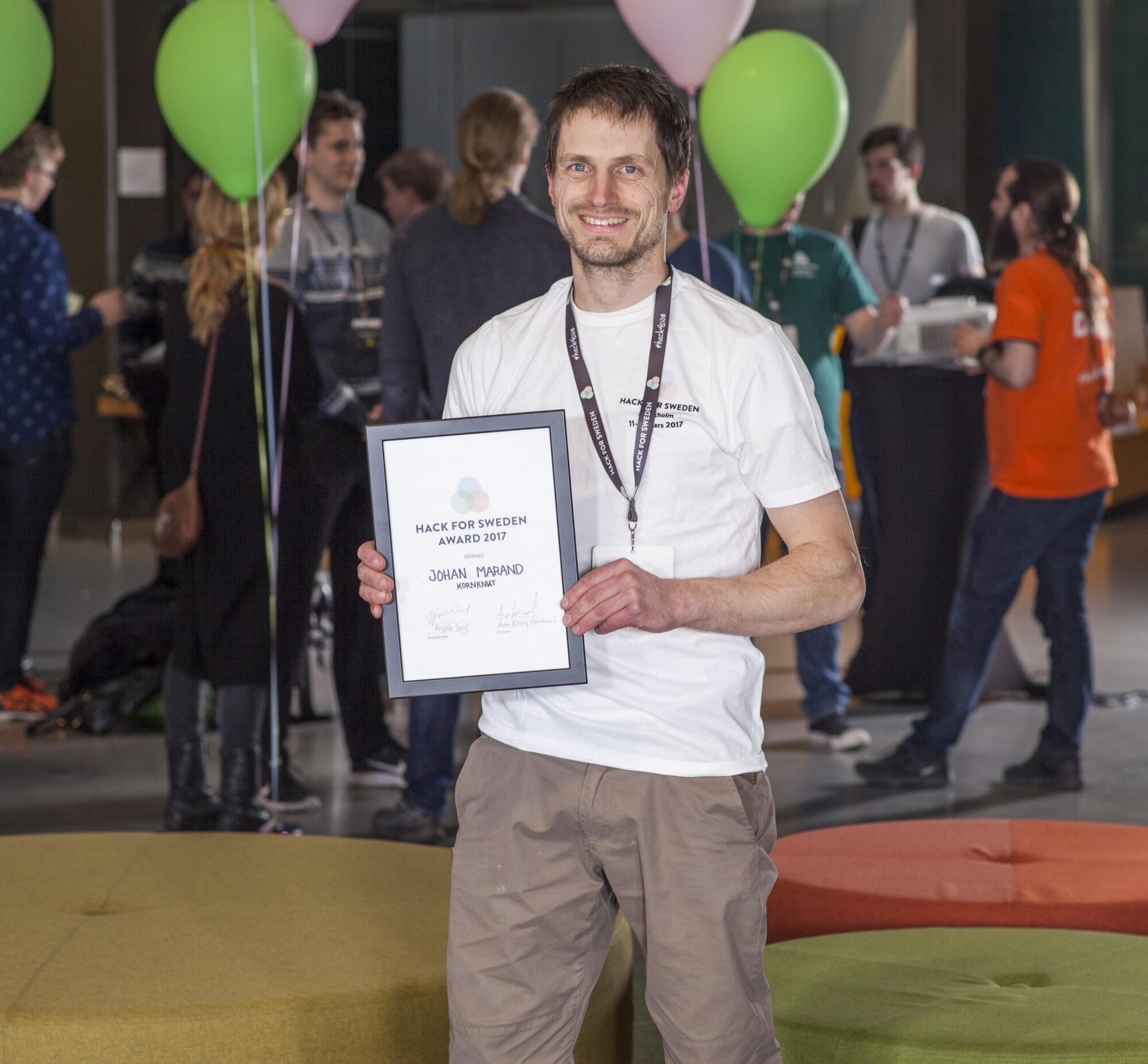 Skogsprojekt vann Hack for Sweden Award 2017