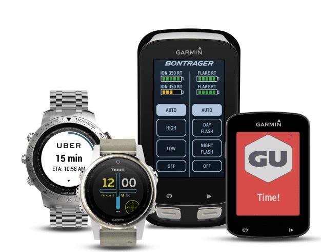 Garmin presenterar flera nya appar till Connect IQ från Uber, Trek, GU, Nuun