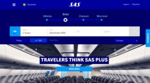 SAS live med ny webb